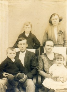 Samual A. Crowley with his blended family in about 1914 in Hardeman County, Tennessee.